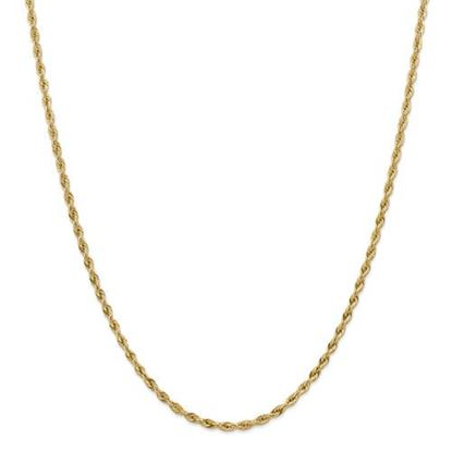 Picture of 10k Yellow Gold 3.0mm Semi-Solid Rope Chain Necklace