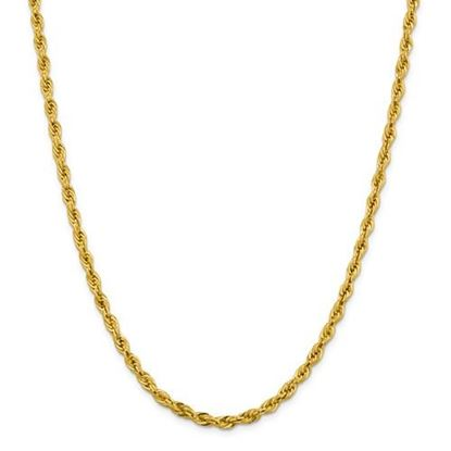 Picture of 10k Yellow Gold 4.25mm Semi-Solid Rope Chain Necklace