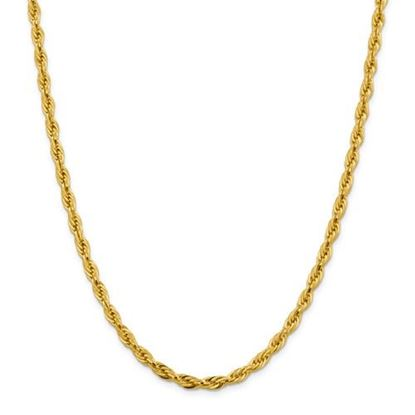 Picture of 10k Yellow Gold 4.75mm Semi-Solid Rope Chain Necklace