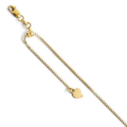 Picture of 11 inch Leslie's 14k Yellow Gold Adjustable Box Chain Anklet