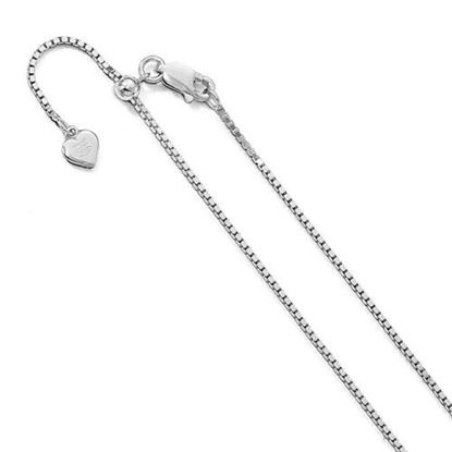 Picture of 11 inch Leslie's Sterling Silver 11in Adjustable Box Chain Anklet