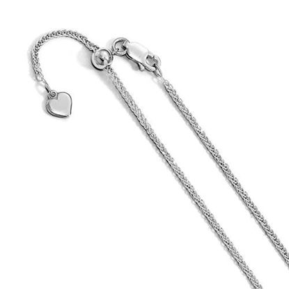 Picture of 11 inch Leslie's Sterling Silver Diamond Cut Adjustable Wheat Chain Anklet