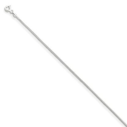Picture of 9 inch Sterling Silver 1.2mm Round Snake Chain Anklet