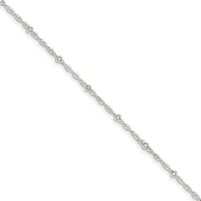 Picture of 9 inch Sterling Silver 2.50mm Fancy Singapore Chain Anklet
