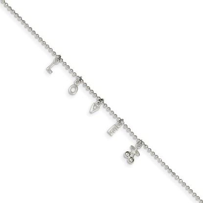 Picture of 10 inch Sterling Silver Anklet with 1 inch extension