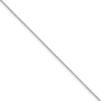 Picture of 7 inch Sterling Silver 1.1mm Diamond Cut Rope Chain Bracelet