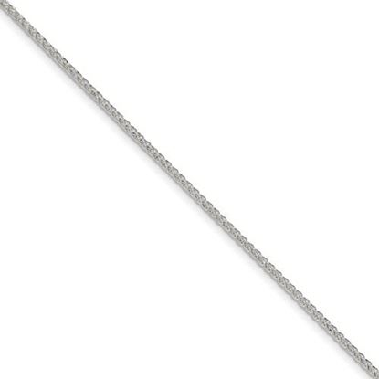 Picture of 7 inch Sterling Silver 1.70mm Diamond Cut Round Spiga Chain Bracelet