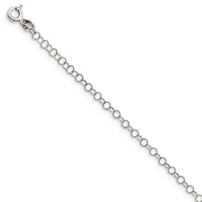 Picture of 7 inch Sterling Silver 3.5mm Fancy Chain Bracelet