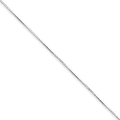 Picture of 8 inch 14k White Gold .95mm Box Chain Bracelet
