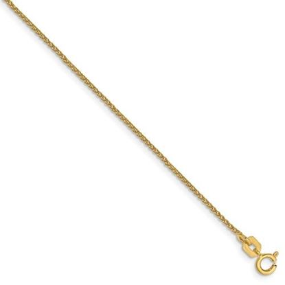 Picture of 8 inch 14k Yellow Gold 1mm Solid Polished Spiga Chain Bracelet