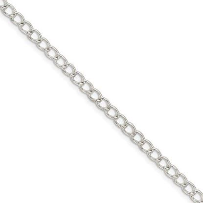 Picture of 8 inch Sterling Silver 3mm Half Round Wire Curb Chain Bracelet