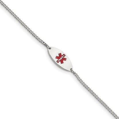 Picture of 7 inch Sterling Silver Enameled Jewelry Bracelet