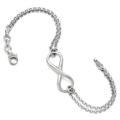 Picture of 7.5 inch Leslie's Sterling Silver Infinity Symbol Bracelet