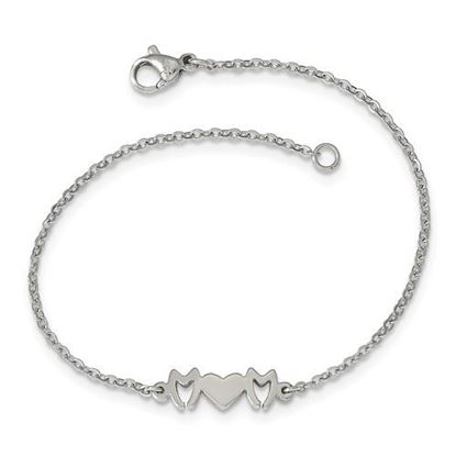 Picture of 7.5 inch Stainless Steel Mom Bracelet