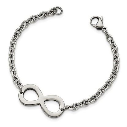 Picture of 7.5 inch Stainless Steel Polished Infinity Bracelet