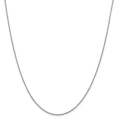 Picture of Leslie's 14k White Gold 1 mm Sparkle Singapore Chain Necklace