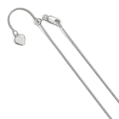 Picture of Leslie's Sterling Silver 1 mm Adjustable Spiga Chain Necklace