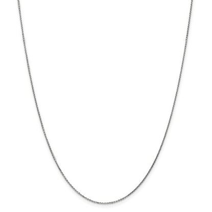 Picture of 14k White Gold .95mm Solid Diamond Cut Cable Chain Necklace