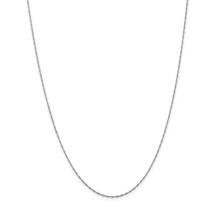 Picture of 14k White Gold 1mm Singapore Chain Necklace