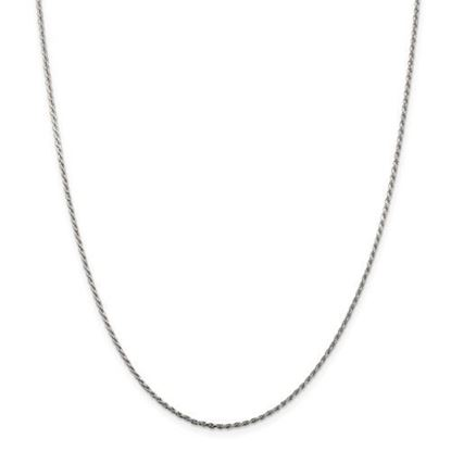 Picture of Sterling Silver 1.5mm Diamond Cut Rope Chain Necklace