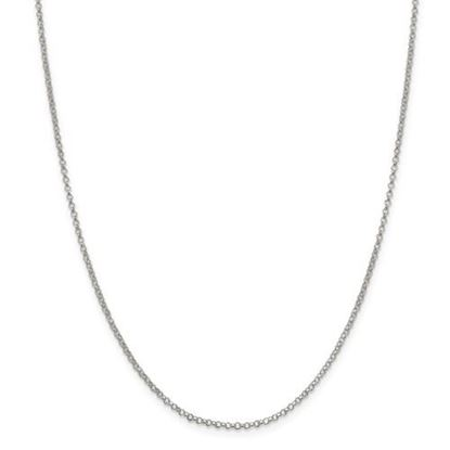 Picture of Sterling Silver 2mm Rolo Chain Necklace