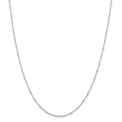 Picture of Sterling Silver 1.25mm Beaded Rolo Chain Necklace