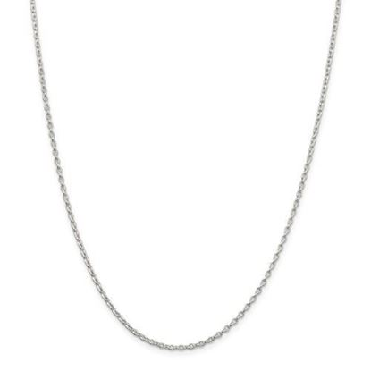 Picture of Sterling Silver 1.6mm Long Link Rolo Chain Necklace