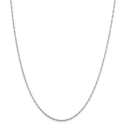 Picture of Sterling Silver 1.40mm Singapore Chain Necklace