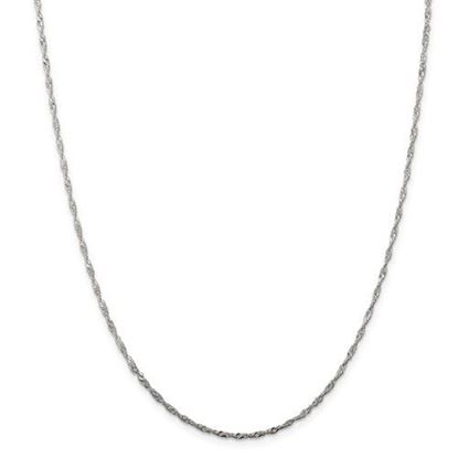 Picture of Sterling Silver 1.75mm Singapore Chain Necklace