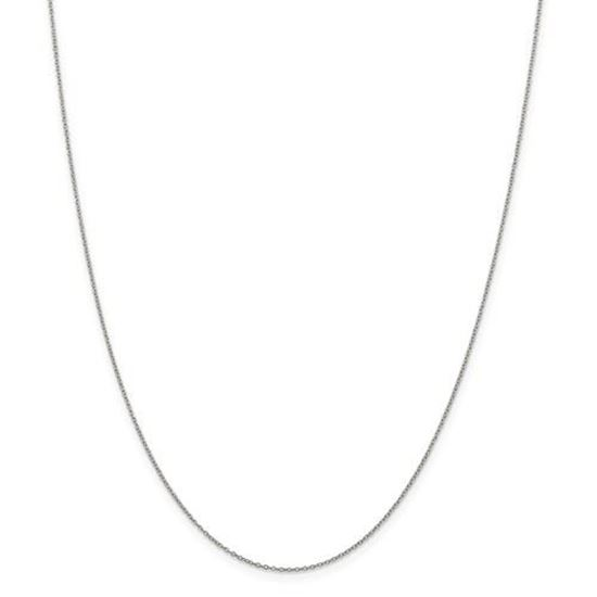 Picture of Sterling Silver 1mm Rhodium Curb Chain Necklace