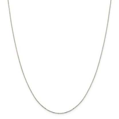 Picture of Sterling Silver 1mm 8 Sided Diamond Cut Cable Chain Necklace