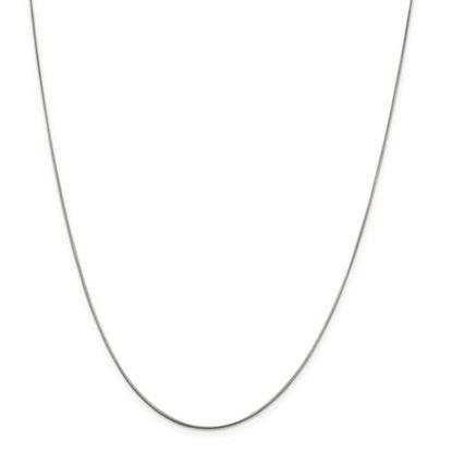 Picture of Sterling Silver .8mm Round Snake Chain Necklace