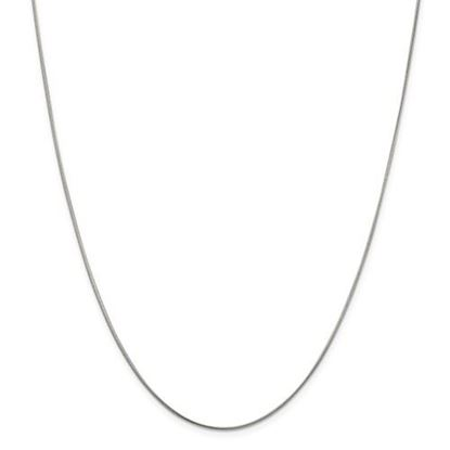 Picture of Sterling Silver 1mm Round Snake Chain Necklace