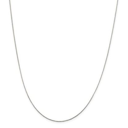 Picture of Sterling Silver .85mm Diamond Cut Round Spiga Chain Necklace