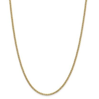 Picture of 14k Yellow Gold 2.40mm Semi-Solid Anchor Chain Necklace