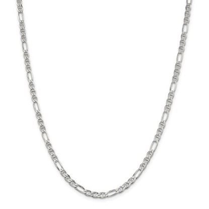 Picture of Sterling Silver 3.75mm Figaro Anchor Chain Necklace