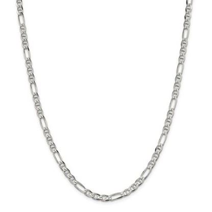 Picture of Sterling Silver 4.5mm Figaro Anchor Chain Necklace
