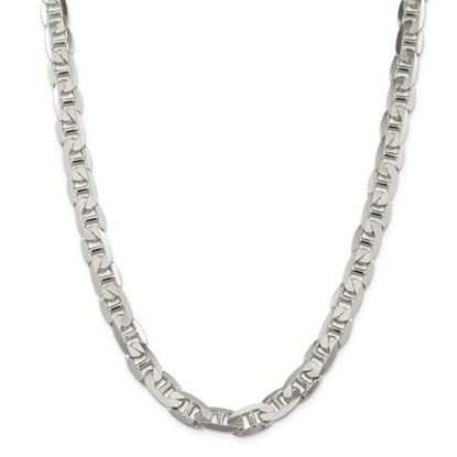 Picture of Sterling Silver 9.5mm Anchor Chain Necklace