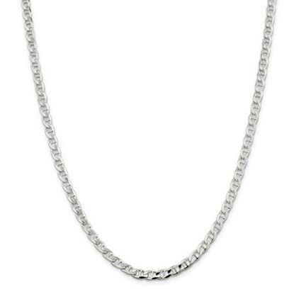 Picture of Sterling Silver 4.65mm Flat Anchor Chain Necklace