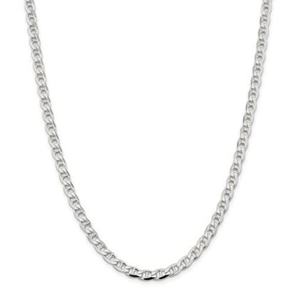 Picture of Sterling Silver 5.7mm Flat Anchor Chain Necklace