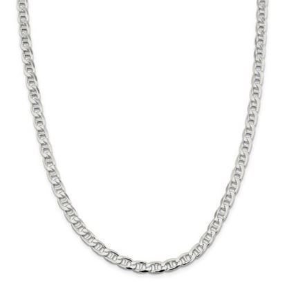 Picture of Sterling Silver 6.5mm Flat Anchor Chain Necklace