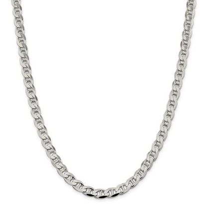 Picture of Sterling Silver 7.4mm Flat Anchor Chain Necklace