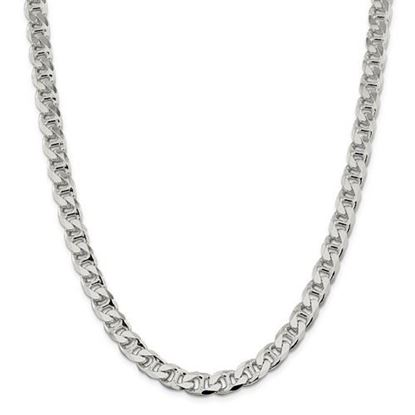 Picture of Sterling Silver 8.9mm Flat Anchor Chain Necklace