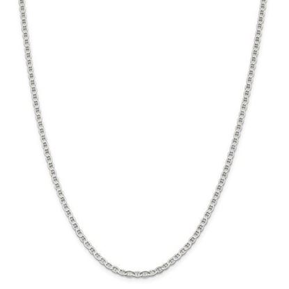 Picture of Sterling Silver 3.1mm Semi-Solid Flat Anchor Chain Necklace