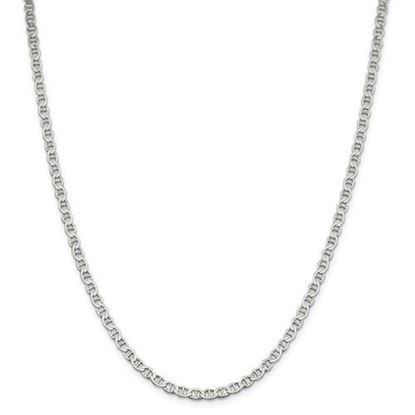 Picture of Sterling Silver 4mm Semi-Solid Flat Anchor Chain Necklace