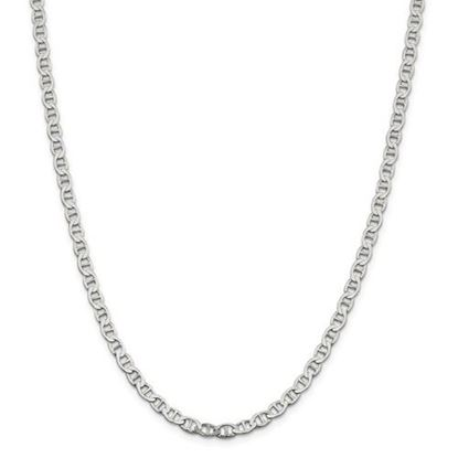 Picture of Sterling Silver 4.75mm Semi-Solid Flat Anchor Chain Necklace