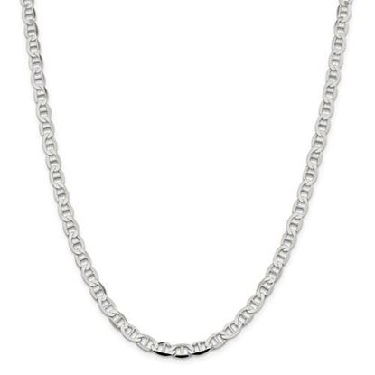 Picture of Sterling Silver 5.7mm Semi-Solid Flat Anchor Chain Necklace