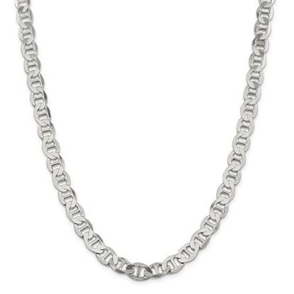 Picture of Sterling Silver 8.9mm Semi-Solid Flat Anchor Chain Necklace
