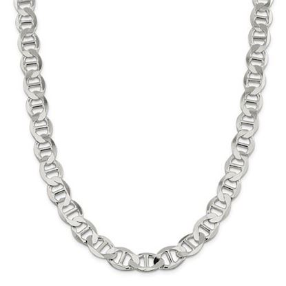 Picture of Sterling Silver 12.3mm Semi-Solid Flat Anchor Chain Necklace