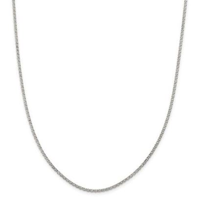 Picture of Sterling Silver 2mm Fancy Anchor Pendant Chain Necklace